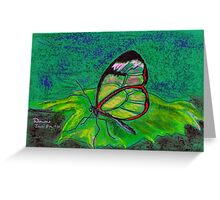 Clearwing on Green Greeting Card