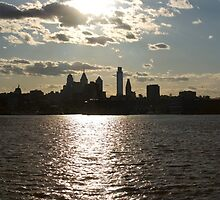Sunset Over the Philadelphia Skyline by StudioEleven