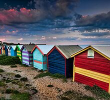 Colours of Brighton Beach by Jason Pang, FAPS FADPA