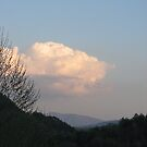 Thunderhead over Thunderhead Mountain by JeffeeArt4u