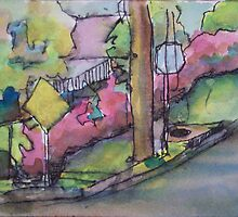 Fading Azalea Hedge by Richard Huston