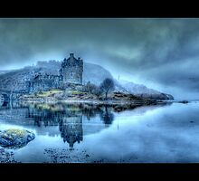 Eilean Donan Castle Panoramic (Bordered) by Chad Kruger