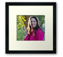 Irene in Autumn Framed Print
