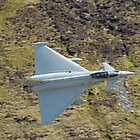 Lowflying Typhoon in the Welsh hills April 2010 by Barry Culling