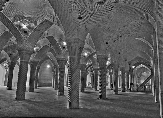 Inside Vakil Mosque - Shiraz - IRAN by Bryan Freeman