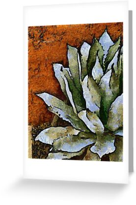 Agave Against a Red Wall by Linda Gregory