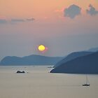 Sunset, Golfo Stella by itchingink