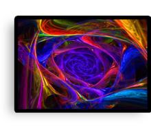 """Psychedelic Spirals"" - Fractal Art Canvas Print"