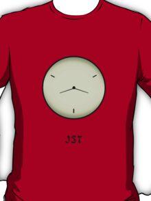 Japan Standard Time JST Clock T-Shirt