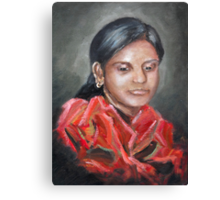 The Red Scarf Canvas Print