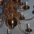 Golden Chandelier by Geraldine Miller