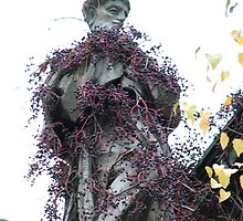 Statue covered in creeper by Louise Brookes