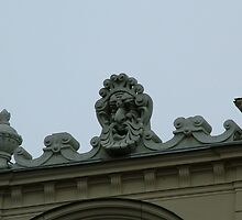 Detail Sculptured Heads, Krakow by Louise Brookes