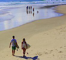 Main Beach by Trish Threlfall