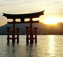 Sunset at Miyajima by Totosan