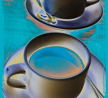 Abstract cup of coffee by Denis Charbonnier