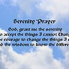 Blue Sky White Clouds Serenity Prayer by SmilinEyes