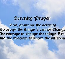 Blue Sky White Clouds Serenity Prayer by SmilinEyes