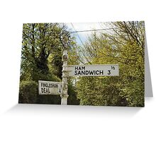 Guess what's at the end of the road. Greeting Card
