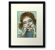 Irish Pixie - beautiful little fairy and a ladybird  Framed Print