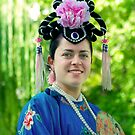 Alyssa in the Chinese Gardens of Friendship by Vanessa Pike-Russell