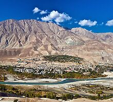 Town in the foothill by soumen