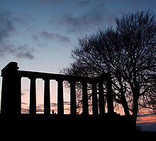 Sunset Over Calton Hill by Lynne Morris