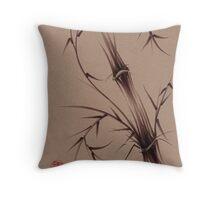 """As One""  Original brush pen sumi-e bamboo drawing/painting Throw Pillow"