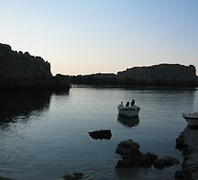 Saint Pauls Bay At first light (Lindos Rhodes) by murdozzz