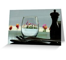 I'll Have a Glass of Flowers Please. Greeting Card