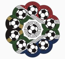 South African Football Flower Kids Clothes