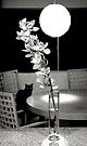 Interior with black cat by Marianna Tankelevich