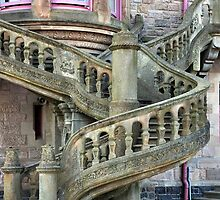 Belfast Castle _ Outside Stairway by Shubd