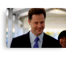 Nick Clegg Leader of LibDems - British Politician Canvas Print