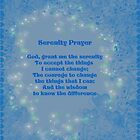Blue Hearts Serenity Prayer by SmilinEyes