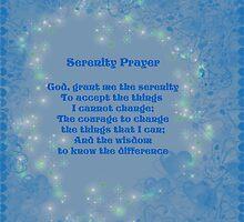 Blue Hearts Serenity Prayer by SmilinEyes