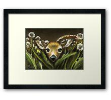 Peek-a-boo! little fawn by Tanya Bond Framed Print