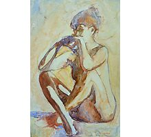 Nude : watercolor on yupo paper Photographic Print