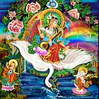 Om Saraswati ~ Protectress of the Arts ~ Sacred Art by Rita  Hraiz