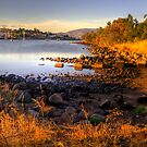 Kangaroo Bay in landscape and hdr, Tasmania by Elana Bailey