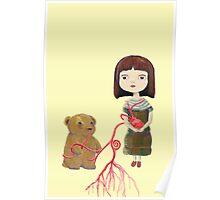 Grendelgirl and bear hold heartvines  Poster