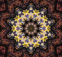 Indian Corn Kaleidoscope Art 1 by Christopher Johnson