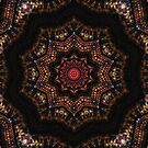 Indian Corn Kaleidoscope Art 2 by Christopher Johnson