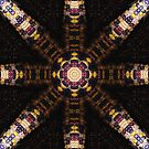 Indian Corn Kaleidoscope Art 3 by Christopher Johnson