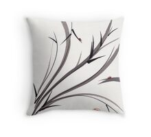 """""""My Dear Friend""""  Original ink and wash ladybug bamboo painting/drawing Throw Pillow"""