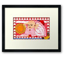 LILLI SAYS THE SUN IS YELLOW Framed Print