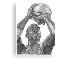 Illustration of an athlete in action. Canvas Print