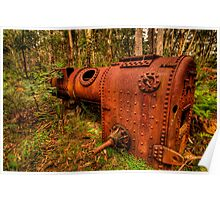 Once Trusted Now Rusted - Mount Irvine, Sydney - The HDR Experience Poster
