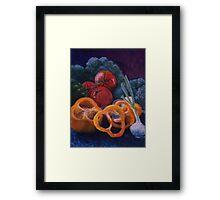 Veggie Still Life Framed Print