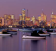 Melbourne at Night by Mark Maloney